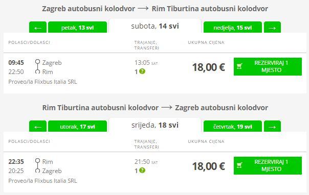 Zagreb >> Rim >> Zagreb