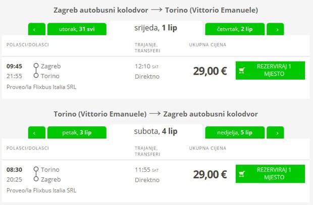 Zagreb >> Torino >> Zagreb