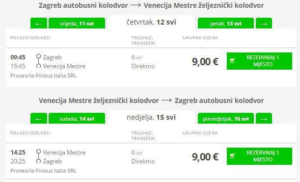 Zagreb >> Venecija >> Zagreb