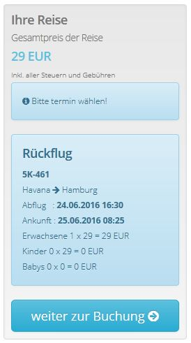 Havana >> Hamburg