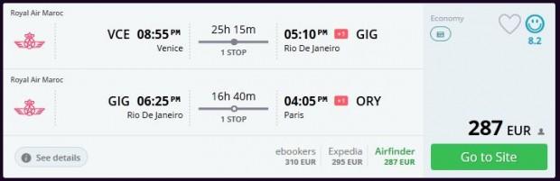Venecija >> Rio de Janeiro >> Pariz