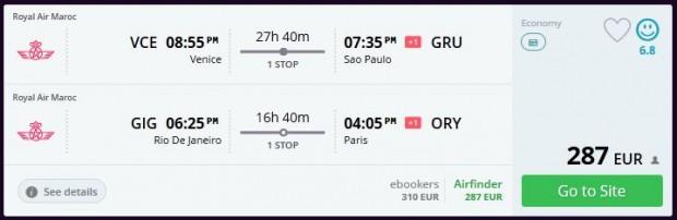 Venecija >> Sao Paulo -- Rio de Janeiro >> Pariz