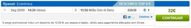 Vilnius >> Milano (Bergamo)