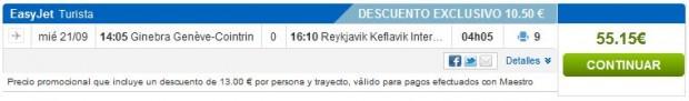 Ženeva >> Reykjavik