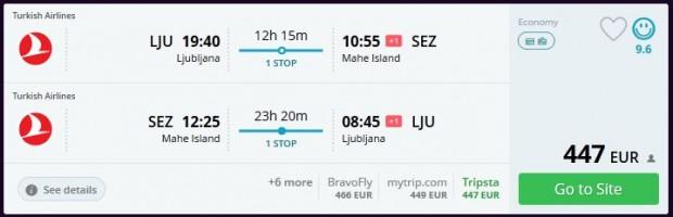 Ljubljana >> Mahe (Sejšeli) >> Ljubljana