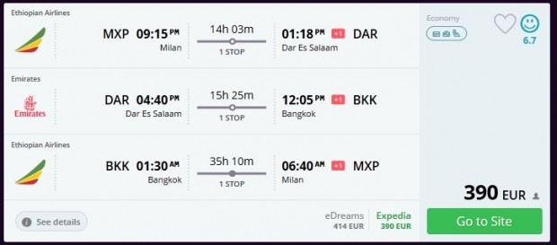 Milano >> Dar es Salaam >> Bangkok >> Milano
