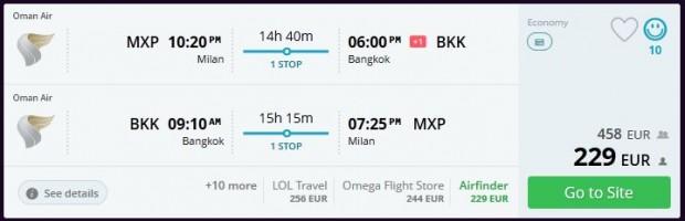 Milano >> Bangkok >> Milano