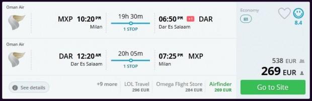 Milano >> Dar Es Salaam >> Milano