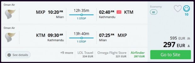 Milano >> Kathmandu >> Milano