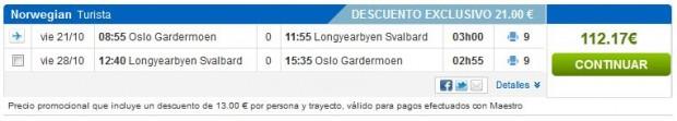Oslo >> Longyearbyen (Svalbard) >> Oslo, na rumbo.es stranicama