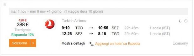 Podgorica >> Mahe (Sejšeli) >> Podgorica
