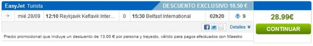 Reykjavik >> Belfast