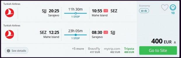 Sarajevo >> Mahe (Sejšeli) >> Sarajevo