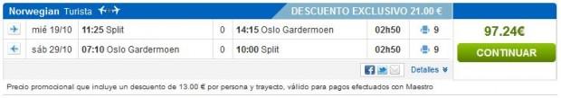 Split >> Oslo >> Split, na rumbo.es stranicama
