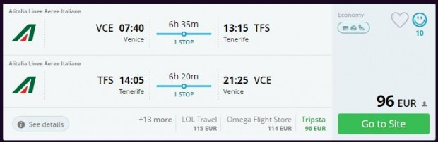 Venecija >> Tenerife >> Venecija