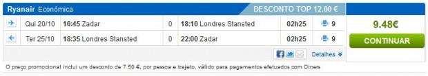 Zadar >> London >> Zadar, na rumbo.pt stranicama