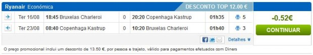 Brisel >> Kopenhagen >> Brisel