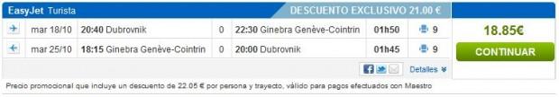 Dubrovnik >> Ženeva >> Dubrovnik, na rumbo.es stranicama
