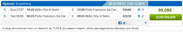 Milano (Bergamo) >> Porto >> Milano (Bergamo)