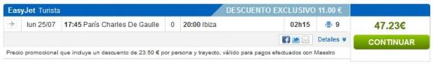 Pariz (CDG) >> Ibiza