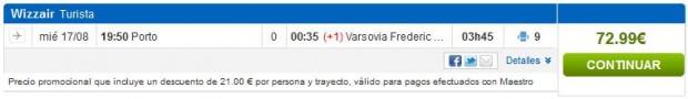 Porto >> Varšava