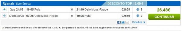 Pula >> Oslo >> Pula