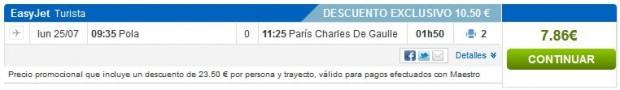 Pula >> Pariz (CDG)