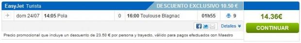Pula >> Toulouse