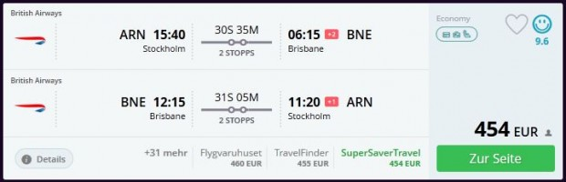 Štokholm >> Brisbane >> Štokholm
