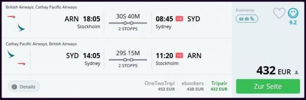Štokholm >> Sydney >> Štokholm