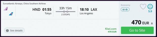 Tokio >> Los Angeles
