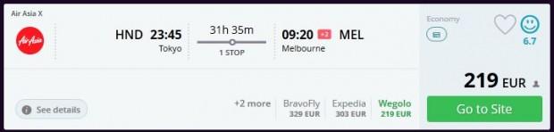 Tokio >> Melbourne