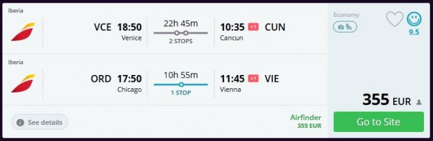 Venecija >> Cancun -- Chicago >> Beč
