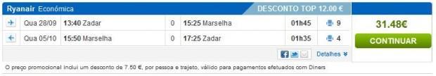 Zadar >> Marseille >> Zadar, na rumbo.pt stranicama