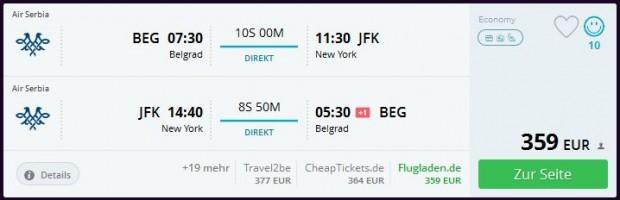Beograd >> New York >> Beograd