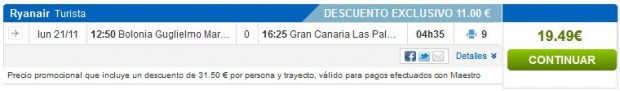 Bolonja >> Gran Canaria