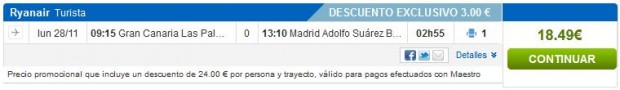 Gran Canaria >> Madrid