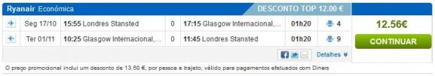 London >> Glasgow >> London