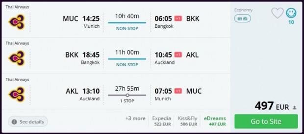 Minhen >> Bangkok >> Auckland >> Minhen