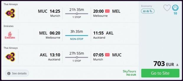 Minhen >> Melbourne >> Auckland >> Minhen
