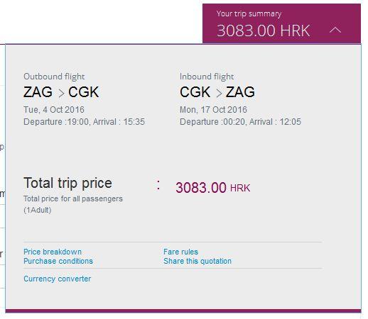 Zagreb >> Jakarta >> Zagreb