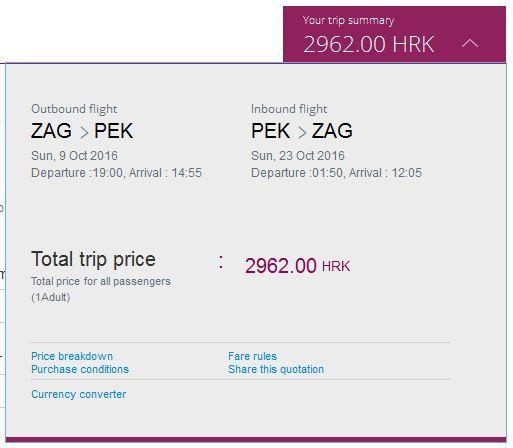 Zagreb >> Peking >> Zagreb