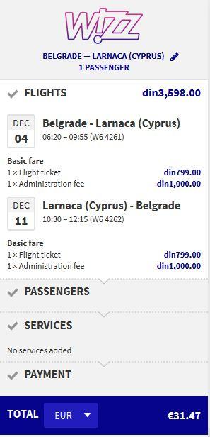 Beograd >> Larnaca >> Beograd