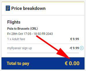 My Ryanair signup - besplatna avio karta!
