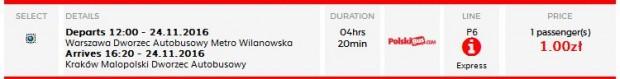 Varšava >> Krakow