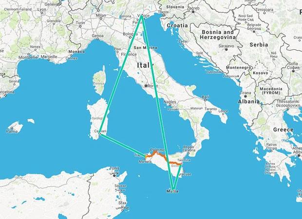 malta karta sveta Malta + Sicilija + Sardinija, kružno za 86€ | Tripologia malta karta sveta