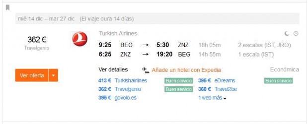Beograd >> Zanzibar >> Beograd