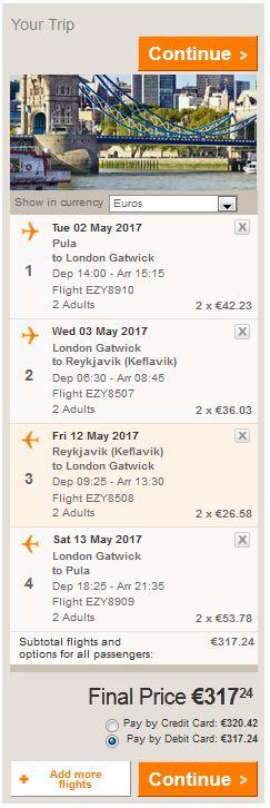 Pula >> London >> Reykjavik >> London >> Pula