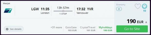 London >> Vancouver