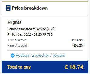 London >> Venecija, Ryanair
